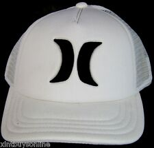 Hurley Half Mesh Embroided Trucker Hat Cap H White Hurley Surf Beach