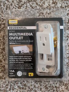 HUBBELL RJ65WTRZ TradeSELECT JLOAD Tamper-Resistant Multimedia Outlet, NEW