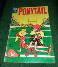 Ponytail #4 silver age 1963 Dell comics classic cartoon kids humor teen comedy
