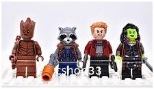 Lego Guardians of the Galaxy Minifigure Groot Rocket Raccoon Star Gamora 76107