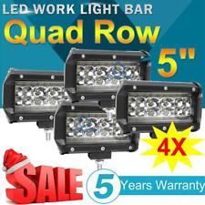 4PCS 5inch Quad Row LED Pod 168W Work Light Bar Spot Flood 6500K Offroad SUV ATV