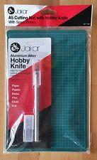 Jakar. A5 Cutting Mat w Hobby Knife. Precision Cut - Paper, Balsa, Film, Cloth.