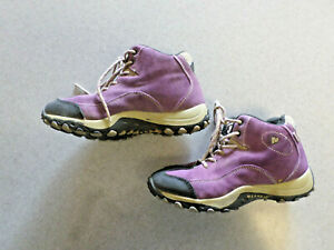 """Merrell """"Chameleon Spin"""" wineberry, waterproof, hiking boots. Youth size 3.5"""