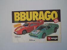 advertising Pubblicità 1988 BBURAGO FERRARI 308/PORSCHE 935