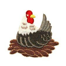 ID 0606 Chicken Nest Hen Patch Farm Rooster Bird Animal Craft Iron-On Applique