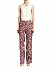 6750d31dc76 Theory Multi Color Silk Mitrana Veranda Print Dress Pants Size Med ANB