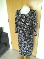 Ladies WINDSMOOR Dress Size 14 Brown Stretch Wiggle Party Evening Wedding Races