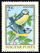 POSTAGE STAMP HUNGARY 2 FORINT NUNBIRD FINCH BLUE NEW ART PRINT POSTER CC3852