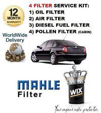 POUR VW PASSAT 1.9 2000-2005 KIT DE SERVICE FILTRE À POLLEN HUILE AIR CARBURANT
