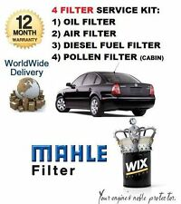 FOR VW PASSAT 1.9 2000-2005 SERVICE KIT OIL AIR FUEL POLLEN FILTER SERVICE KIT