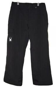 Spyder Men's Troublemaker Black 3M Thinsulate Ski Snowboard Pants Large Long
