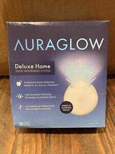 """AURAGLOW Deluxe Home TEETH WHITENING KIT . """" OPENED BOX """"  EXP :  09 / 2022"""