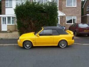WANTED - Yellow Ford Escort Cabriolet Convertible RS Turbo Spanner