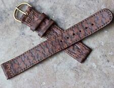 Old type 1940s/1950s Genuine Shark 16mm vintage watch band Pigskin Lining