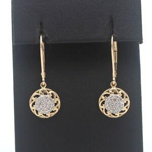 Ohrringe 585 Gold 14 Kt Bicolor Ohrstecker Diamant Wert 620,-