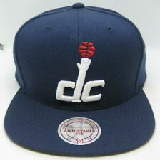 Washington Wizards Mitchell & Ness NBA DC Blue Snapback Cap Hat Flat Brim