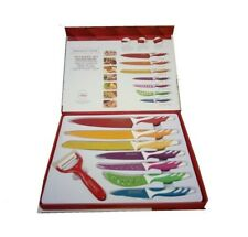 SET 7 COLTELLI DA CUCINA COLORATI CERAMICA PIU PELAPATATE ROYALTY LINE