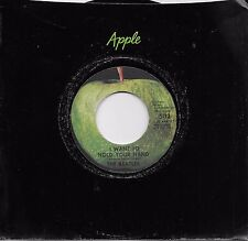 THE BEATLES I Want To Hold Your Hand /I Saw Her Standing There 45 on APPLE label