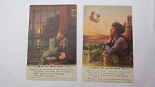 WW1 Bamforth Song Postcard 1914 1918 x 2 HOPE ON BRAVE HEART  No 5040/1/2