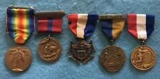 Wwi Era Us Medal Lot of Five to a Us Marine, John W.B. Mitchell, Original Group
