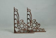 Victorian Aesthetic Architectural Salvage 2 Iron Shelf Brackets Octagon Star