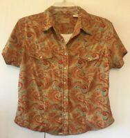 Wrangler Women's SS Snap Front Shirt L