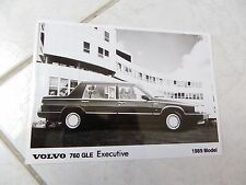 Photo presse Volvo 760 GLE Executive 1989 press photo