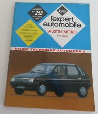 Revue technique l'expert automobile 258 1988 Austin metro tous types