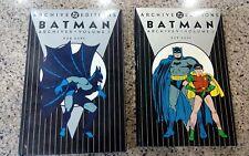 Batman Archive DC Editions Vol. 1-2 Set! Excellent condition!