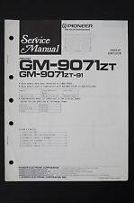 Pioneer gm-9071 ZT ORIGINAL AMPLIFICADOR MANUAL DE SERVICIO /ESQUEMA conexiones/