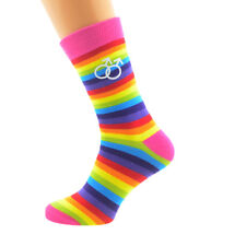 Same Sex Male Sign Rainbow GAY FRIENDS SOCKS Christmas Birthday Present GIFT
