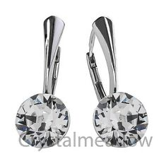 925 Sterling Silver Leverback Earrings XIRIUS Genuine Crystals from Swarovski®