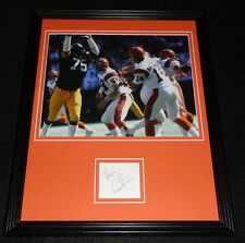 Ken Kenny Anderson Signed Framed 11x14 Photo Display Bengals B
