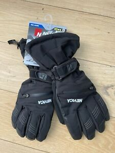 NEW Mens Nevica Vail Ski Gloves Black XL 10000mm Waterproof RRP£69.99 Leather