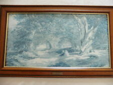 Resting in a wood by Alfred Wilson Cox   C. 1820 - 1868 framed picture