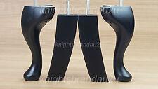 4x di ricambio in legno nero arredo Piedi / ZAMPE-DIVANO, POLTRONA, DIVANO M8 (8mm)
