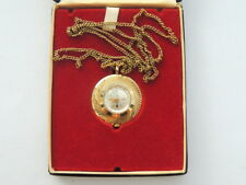 60's Vintage Ruhla German Women's Watch Pendant Gold Plated Mechanical Working