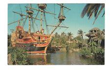 Pirate Ship Disneyland California Vintage Postcard EB246