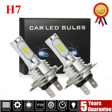 Pair 80W H7 LED Headlight Bulbs Conversion Kit Super High/Low Beam 4000LM 6000K