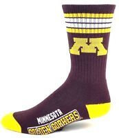 Minnesota Golden Gophers NCAA Deuce 4 Stripe Youth Socks