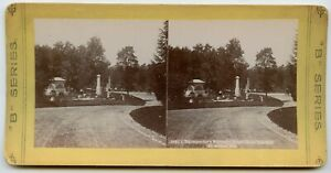 J. Nunnemacher Grave ,Forest Home Cemetery Milwaukee WI Vintage Photo Stereoview