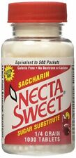 Necta Sweet Saccharin Sugar Substitute .25 Grain Calorie Free 1000 Ct, 8 Pack