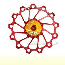 KCNC Ultra Light Alloy Rear Derailleur Pulley / Jockey Wheel , 13T, Red