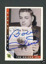 Bobby Hull Blackhawks signed 1992 Ultimate hockey card