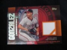 """GIO GONZALEZ GAME-WORN MATERIAL RELIC CARD--2013 TOPPS """"CHASING THE DREAM"""""""