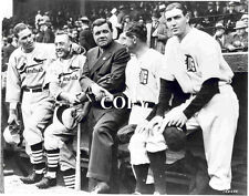 Detroit Tigers : Babe Ruth and '34 W.S. Stars   BBC8