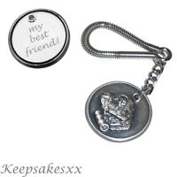 KEYRING St Bernard - Dog Tag Disc Key Chain with PERSONALISED ENGRAVING