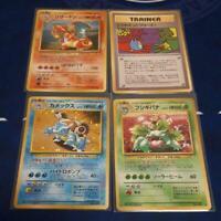 Pokemon Card Japanese Charizard Blastoise Venusaur Holo Promo Japan