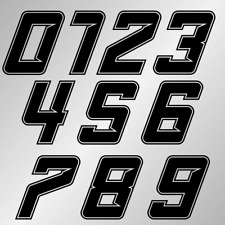Startnummer Aufkleber Zahl -» 10cm «- Motorrad Auto Rennnummer PKW Boot Zahlen