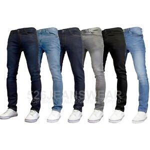 DML Mens Designer Slim Fit Straight Leg Stretch Jeans, BNWT